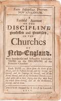 Mather Cotton 16631728 Ratio Disciplinae Fratrum NovAnglorum A Faithful Account of the Discipline Professed and Practised in the