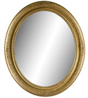 Oval Giltwood Wall Mirror 20th Century