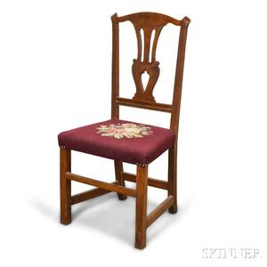 Chippendale Stained and Carved Maple Side Chair