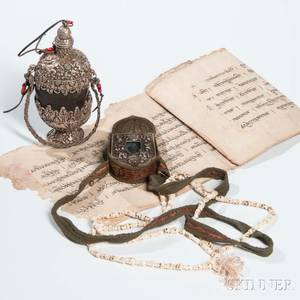 Three Votive Items and a Script on Paper