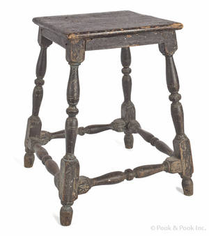 American painted joint stool late 18th c