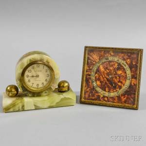 Green Onyx New Haven and a Marbled Zenith Desk Clock