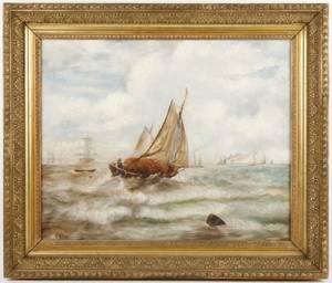Andrew Melrose Marine Painting OC Signed