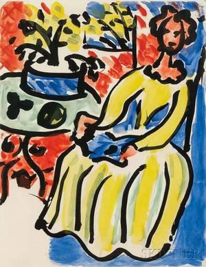 Henri Matisse French 18691954 MarieJos en robe jaune