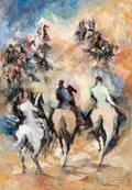 William Meyerowitz American 18871981 Three Horsemen