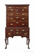 Philadelphia Queen Anne mahogany high chest ca 1765