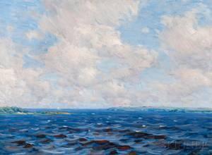 Charles Harold Davis American 18561933 Clouds from the Sea  Newburyport