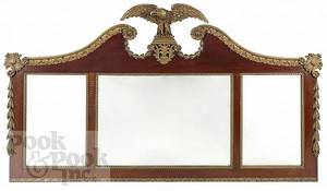 Federal style overmantle mirror