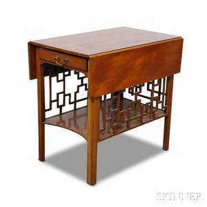 Chinese Chippendalestyle Mahogany Pembroke Table