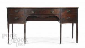 Hepplewhite style mahogany sideboard with line inlay