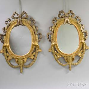 Pair of French LXVIStyle Giltwood Mirrors
