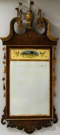 Federalstyle Inlaid Mahogany Mirror