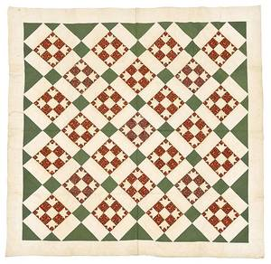 Pennsylvania pieced bear paw variant quilt 19th c