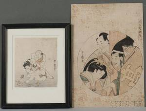 Kikugawa Utamaro 17531806 Two Woodblock Prints