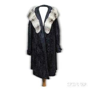 Razooks Cut Persian Lamb and Chinchilla Coat