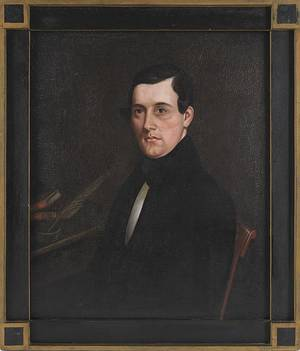 Oil on canvas portrait of a gentleman 19th c