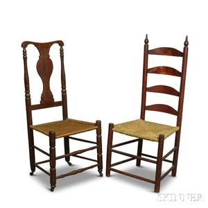 Queen Anne Side Chair and a Ladderback Side Chair