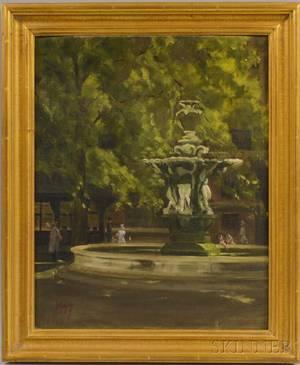British School 20th Century Park Fountain