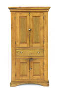 Stained pine and maple wall cupboard