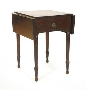 Pennsylvania Sheraton cherry single drawer stand