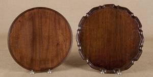 George III mahogany piecrust tray ca 1770