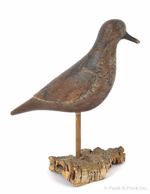 Long Island New York carved and painted plover decoy ca 1900