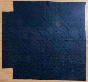New England quilted linsey woolsey bedspread early 19th c