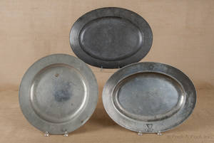English pewter charger ca 1790