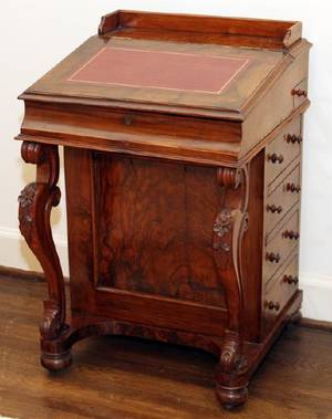 ENGLISH WALNUT DAVENPORT DESK C1880