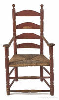 New England William and Mary ladderback armchair ca 1740