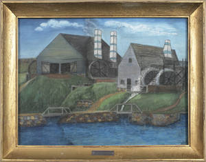 Massachusetts pastel landscape