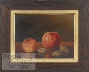 Oil on board still life of fruit