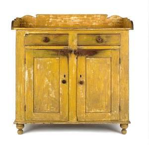 Pennsylvania painted poplar jelly cupboard ca 1830