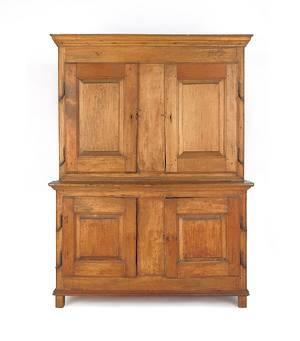 Canadian pine and poplar onepiece stepback cupboard