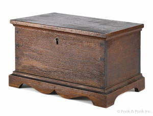 Miniature Pennsylvania walnut blanket chest late 19th c