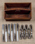 Pennsylvania tiger maple knife tray 19th c