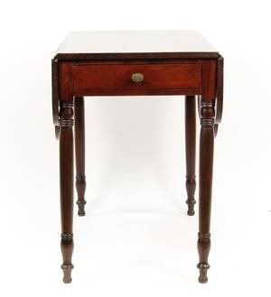 English Pembroke Mahogany Drop Leaf Table