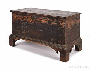 Miniature Pennsylvania walnut blanket chest ca 1780
