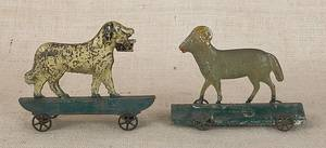 Two painted tin pull toys early 19th c