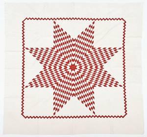 Pennsylvania pieced Bethlehem star quilt 19th c