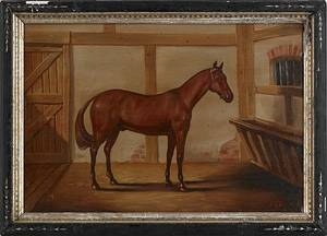 Oil on canvas portrait of a horse