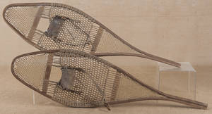 Pair of early snow shoes