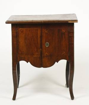 French Early 19th C Mahogany  Inlaid Stand