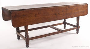 Massive Pennsylvania walnut dropleaf dining table ca 1770