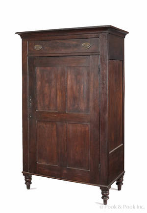 Pennsylvania walnut wall cupboard 19th c