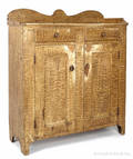 Pennsylvania painted pine jelly cupboard mid 19th c