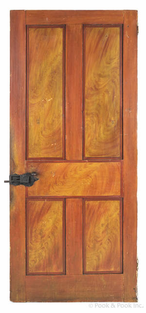 Pennsylvania painted pine door 19th c