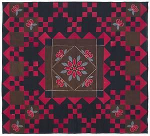 Lancaster Pennsylvania wool appliqu quilt late 19th c