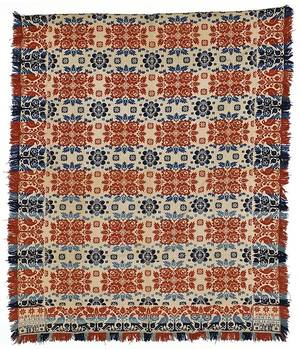 Berks County Pennsylvania Jacquard coverlet