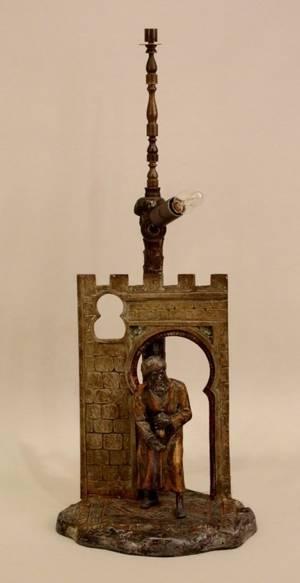 An Austrian Cold Painted Orientalist Motif Bronze
